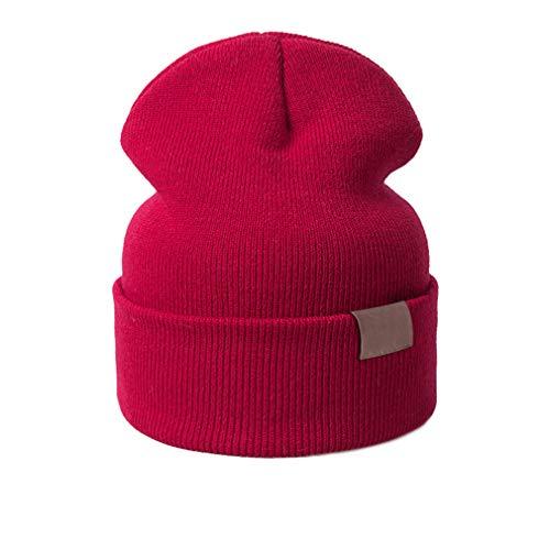 (New Baby Hat Children Warm Hat for Boys Girls Skullies Beanies Red)