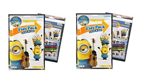 Minion Grab n Go Play Pack x 2 (each include 4 crayons, 25 stickers, 24 pages fun coloring book) by Despicable Me ()