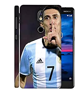 ColorKing Football Dimaria Argentina 01 Multi Color shell case cover for Nokia 7
