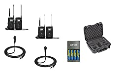 Sennheiser 2x ew 112P G4 Camera-Mount Wireless Microphone Systems, SKB iSeries Waterproof Custom Case 3I1209-4-BH4, and Rapid Charger with batteries