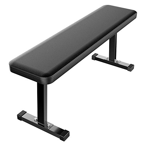 Yaheetech Utility Flat Weight Bench, Black
