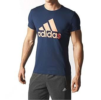 Adidas Men's Sport Essentials Logo Tee, Blue, XXL