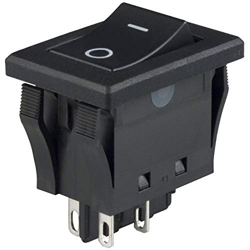 SWITCH ROCKER DPST 10A 125V (Pack of 5) (JWMW21RA1A) by NKK Switches