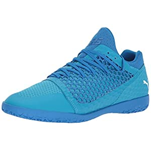 PUMA Men's 365 Netfit CT Soccer-Shoes, Electric Blue Lemonade White-Hawaiian Ocean, 10 M US