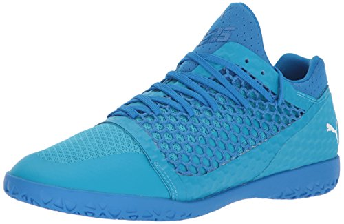 PUMA Men's 365 Netfit CT Soccer Shoe, Electric Blue Lemonade White-Hawaiian Ocean, 7.5 M US (Electric Blue Sneakers)