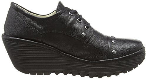 Cordones Mujer Black Fly Negro Derby Yoti904fly Zapatos de para London 000 zzf0I