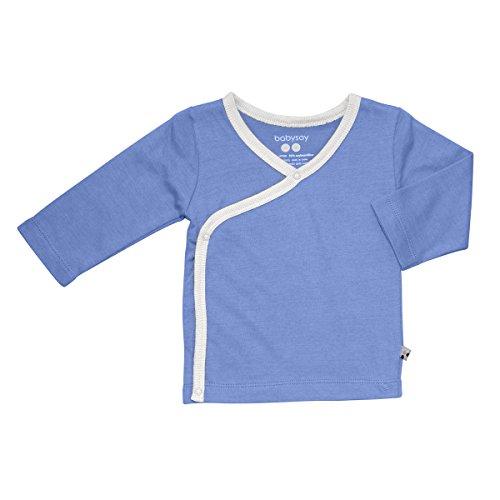 Babysoy Long Sleeve Kimono Layering Tee (Lake Blue, 0-3 Months)