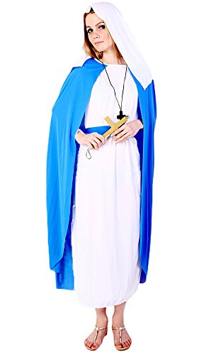 [Ace Halloween Adult Women's Virgin Mary Costume Full Set] (Girls Virgin Mary Costume)