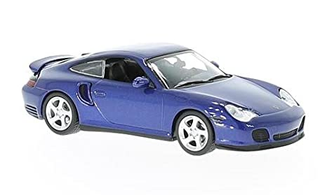Porsche 911 Turbo (996), metallic-blue, 1999, Model Car,