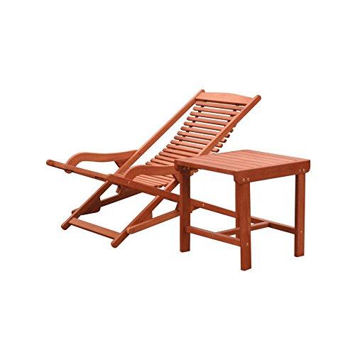 - Malibu V1802SET9 Chaise Lounge Set, Natural