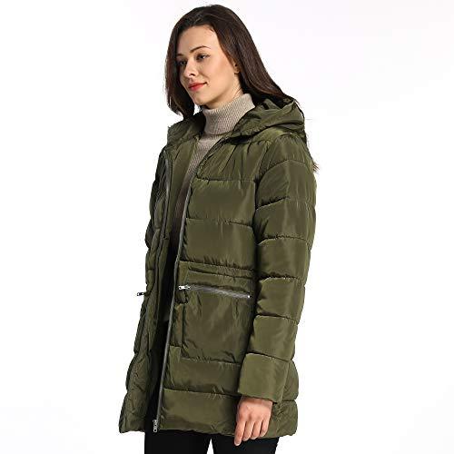 iloveSIA Womens Winter Puffer Coats Down Alternative Puffer Jacket with Hood