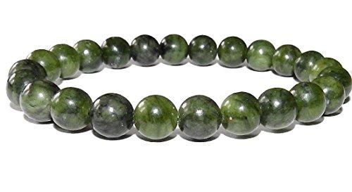SunnyCrystals 8mm Jade Bracelet 02 Love Heart Chakras Abundant Stone (Gift Box) (7.0) - Jade Bead Love Heart Bracelet