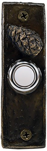 (TimberBronze53 F-DRBELL-SLMCC-B Slim with Closed Lodgepole Pine Cone Doorbell Button, Basic)