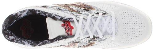 New Balance Homme L4040 Bas Chaussure De Baseball En Métal Blanc