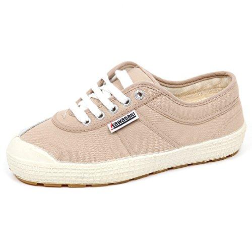 E6784 (Without Box) Sneaker Donna Taupe Kawasaki Scarpe Canvas Shoe Woman Tortora Chiaro