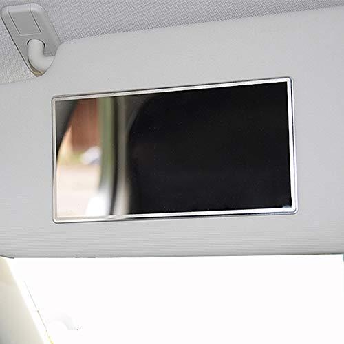 - ZaCoo Car Visor Mirror Seatback Makeup Mirror, Large Stainless Steel Makeup Travel Vanity Mirror 5.9