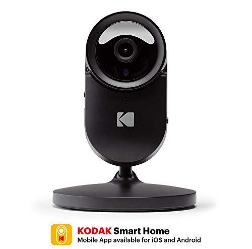Home Security Camera KODAK Cherish F680 — Smart Mobile App, Cloud-Connected, Full-HD, Wireless Surveillance Camera with Infrared Night-Vision, Zoom, Battery, 120deg View, WiFi Camera