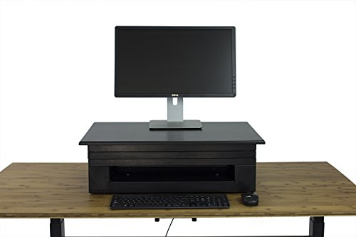 Uncaged Ergonomics Electric Change Desk, Height Adjustable Standing Desk Converter, Ergonomic Stand Up Desk Conversion Kit (CDE-b) by Uncaged Ergonomics (Image #5)