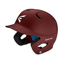 EASTON Z5 2.0 Batting Helmet | Baseball Softball | Junior | Matte Maroon | 2020 | Dual-Density Impact Absorption Foam | High Impact Resistant ABS Shell | Moisture Wicking BioDRI Liner | Removable E