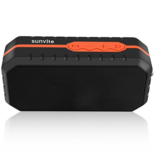 Sunvito Portable Wireless Bluetooth Speaker,Mini Outdoor Waterproof Speaker with 1800mAh Battery (MIC for Hands-free Calling,Line in,USB,TF Card) for iPhone Samsung Galaxy Note and more
