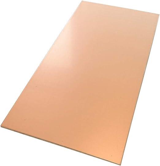 AERZETIX Plaque Planche Feuille en cuivre pour Circuit imprim/é 210//100//1mm 70/µm Aluminium C40738