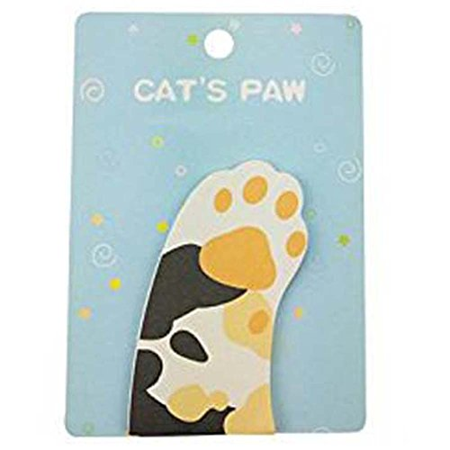HUIHE Cute Funny Animal Cat Sticky Notes Cat Paw Shaped Self-Stick Memo Notes Ideal Gifts for Students (Paw Shaped Clip)