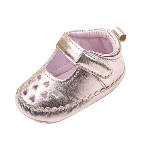 exiu bebé niñas piel sintética suave suela zapatos Prewalker calzado zapatos 0–