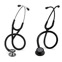 3M Littmann Cardiology IV Stethoscope, Standard-Finish Chestpiece, 27-Inch, Black Tube, (6152) & 3M Littmann Classic III Stethoscope, Black Edition Chestpiece, Black Tube, 27-Inch (5803)