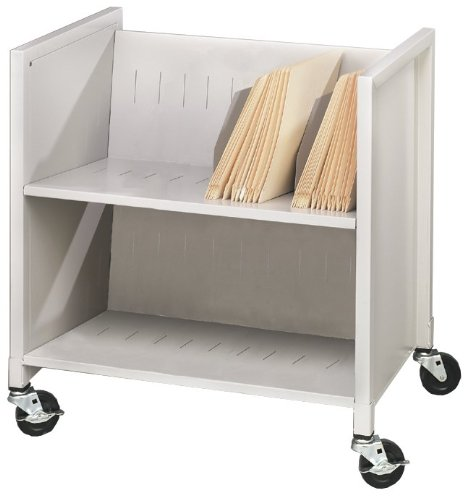 Buddy Products Low Profile Medical Cart, Steel, 16.125 x 27.375 x 25.875 Inches, Platinum
