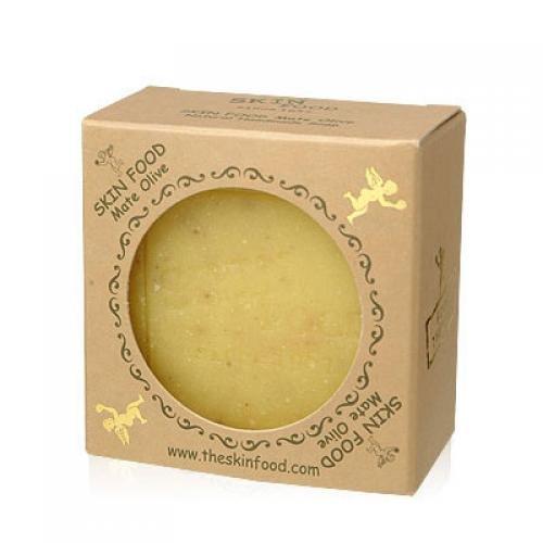 SKINFOOD-mate-olive-handmade-mature-soap-Korean-Beauty-Imported