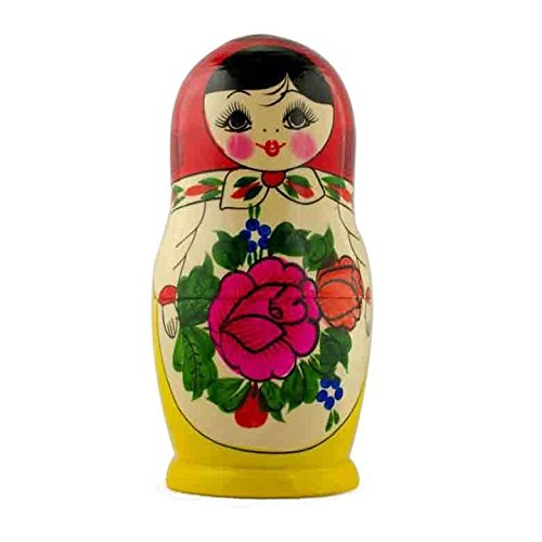 BestPysanky Paint Your Own Single Unfinished Wooden Nesting Doll 6.75 Inches