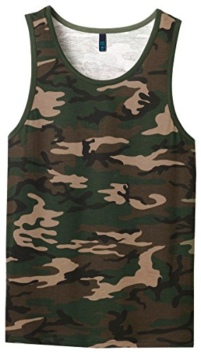 District Men's Young Cotton Ringer Tank 3XL Military Camo/Dark - Ringer Army