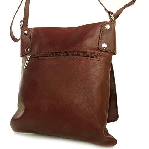 Echt Leder Umhängetasche Damen Tasche Handtasche Ledertasche Schultertasche braun