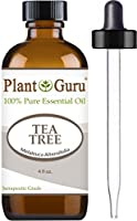 Tea Tree Essential Oil 4 oz 100% Pure Undiluted Therapeutic Grade Extract of Melaleuca Alternifolia, Great for Aromatheray, Diffuser, Dandruff, Acne, Skin, Body, Hair and Scalp.