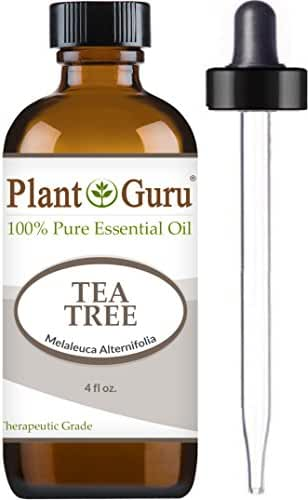 Tea Tree Essential Oil 4 oz 100% Pure Undiluted Therapeutic Grade Extract of Melaleuca Alternifolia, Great for Aromatheray, Diffuser, Dandruff, Acne, Skin, Body, Hair and Scalp.