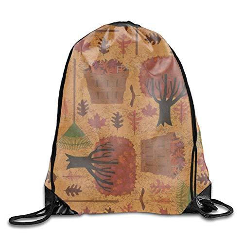 Halloween Witch Men & Women Fashion Backpacks Shoulder Bag Laptop Backpack,Sport Gym Sackpack Drawstring Backpack Bag ()