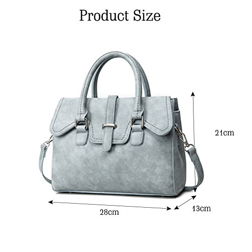 Grey Handbags Bag Vegan Yoome Satchel Large Leather Grey Handle for Pattern Lichee Women Top pWFFOqz