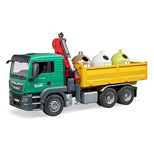 Man Container Truck - Bruder Toys Man Tgs Truck with 3 Glass Recycling Containers and Bottles