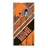 NFL Cleveland Browns Diagonal Beach Towel, 28 x 58-inches