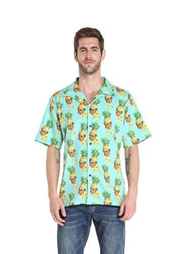 (Hawaii Hangover Men's Hawaiian Shirt Aloha Shirt 2XL Halloween Pineapple Skull with)