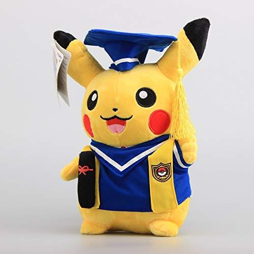 PampasSK Stuffed & Plush Animals - Anime Pikachu Graduate Fitting Soft Plush Toy Blue Clothes Pikachu Stuffed Dolls 11