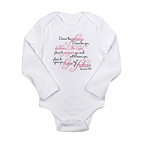CafePress – Jeremiah 29:11 Design – Cute Long Sleeve Infant Bodysuit Baby Romper