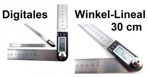 CELRIC Digitales Winkel Lineal Stellwinkel/ Winkelmesser 300mm Winkellineal Digital 30 cm lang KY
