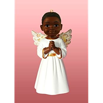 Positive Images African American Christmas Ornaments Prayer Boy White - Amazon.com: Positive Images African American Christmas Ornaments