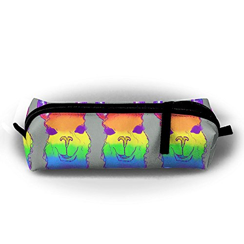 - Hong Yi Fang Children Stationery Bag Rainbow Llama Cute Student's Pen Bag Pencil Case Rectangular Pouch