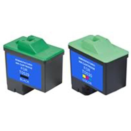Amsahr T0529 Remanufactured Replacement Dell Ink Cartridges for Printers/Faxes with 1 Black and 1 Color Cartridges Ink Ultimate Approach Inc. DBA Amsahr