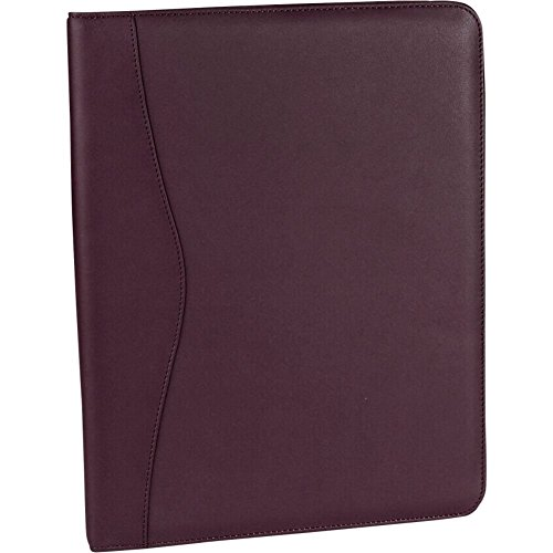 Royce Leather Deluxe Writing Padfolio - Burgundy