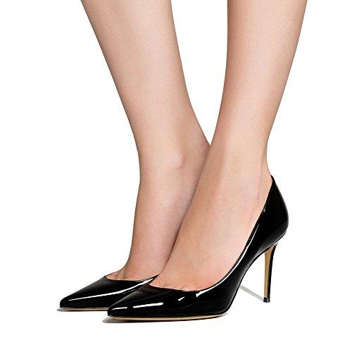 1807 Black Mujer Alto Sandalias Tacón 38 De Sexy Puntiagudo Dedo Tacón Mejorar KJJDE Zapatos Baile Fiesta Alta De TLJ YgTqqFH