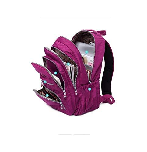 (School Backpack for Teenage eminina Women Backpacks Nylon Waterproof Casual Laptop Backpack,Black,27CMX13CMX37CM 1368)