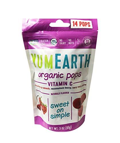 Yumearth Organic Lollipops 3oz, 1 Pack (14 pops) (Berry Pops)